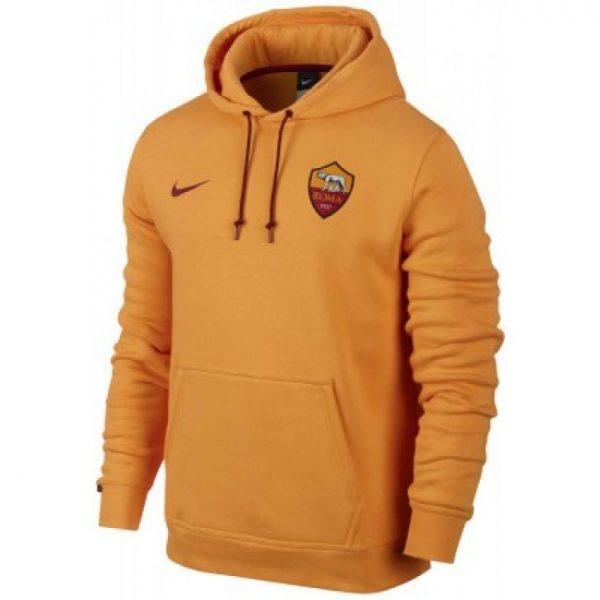Felpa Sweet cappuccio Nike AS ROMA Core Hoody Orange