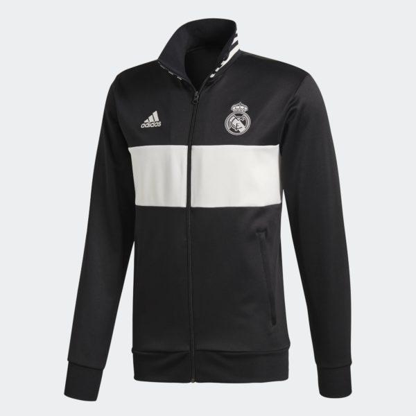 Adidas Giacca Tuta 3 Stripes TrackJacket Polyester Jacket Real Madrid CF