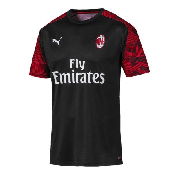 Maglia-a-maniche-corte-Training-AC-Milan-uomo Nera